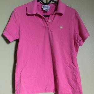 Lily Pulitzer pink collared shirt